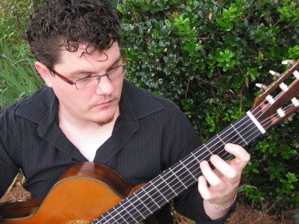 Robby Gibson will present a classical guitar concert at Studio 116 on Tuesday April 29th, at 7:30pm!